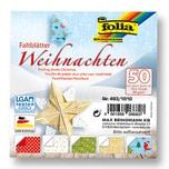 folia Faltblätter Weihnachten 10x10cm 50 Blatt