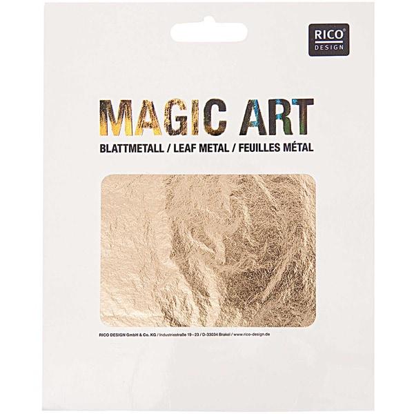 Rico Design Magic Art Blattmetall 25 Blatt gold