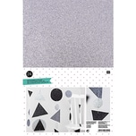 Rico Design Moosgummi schwarz-weiß 2mm 20x30cm 10 Platten