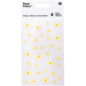 Paper Poetry Sticker Butterblumen 4 Blatt