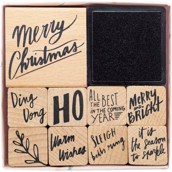 Paper Poetry Stempelset Jolly Christmas Schrift 10teilig