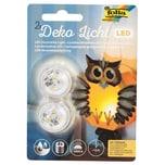 folia LED Deko-Licht warmweiß 2 Stück