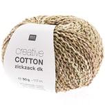 Rico Design Creative Cotton Zickzack 50g 117m oliv Spray