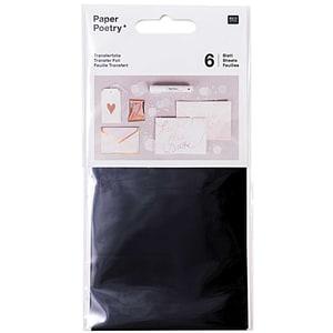 Rico Design Transferfolie 9x15cm 6 Blatt schwarz