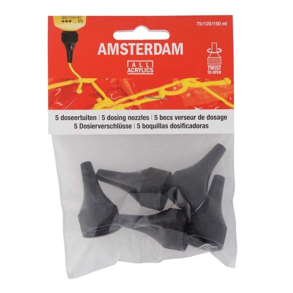 AMSTERDAM Dosierspitzen zum Aufschrauben 5 Stück