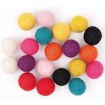 Rico Design Filz-Kugelmix 1,5cm 20 Stück multicolor