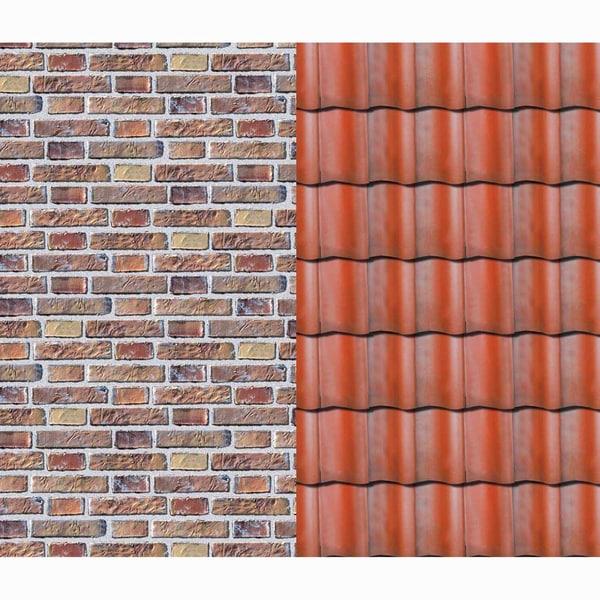 MARPA JANSEN Fotokarton Klinker-Dachziegel 50x70cm 300g/m²