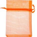 Beutel Organza 17,5x12,5cm 4 Stück orange