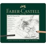 Faber Castell Pitt Charcoal Kohleset 24teilig
