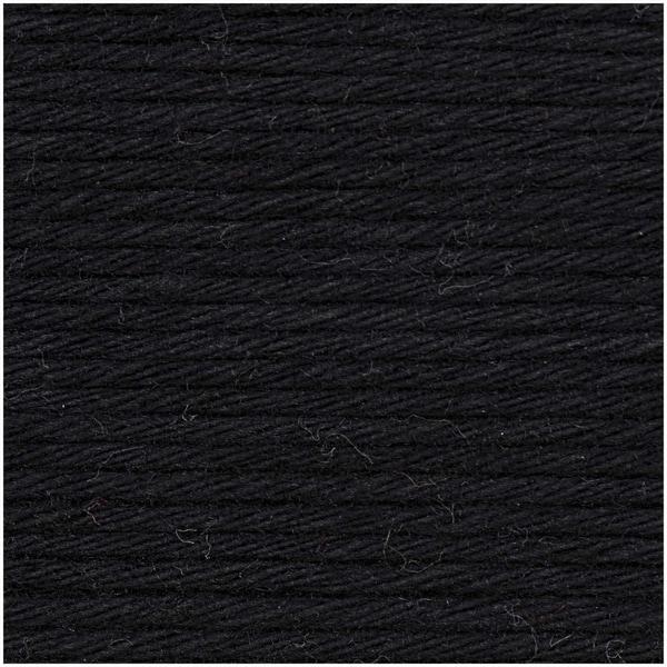 Rico Design Creative Cotton aran 50g 85m schwarz