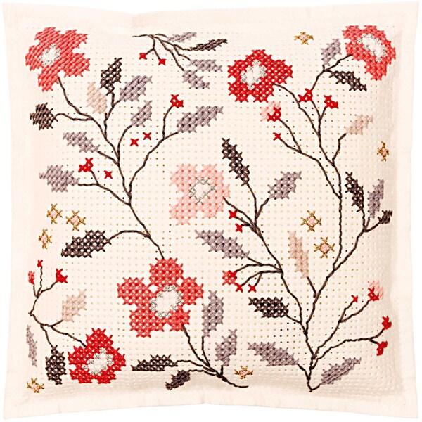 Rico Design Filzkissen zum Besticken Blumenranke 42x42cm