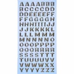HobbyFun SoftySticker Großbuchstaben silber 17,5x9cm