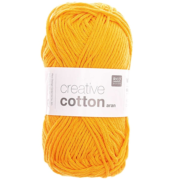 Rico Design Creative Cotton aran 50g 85m mandarine