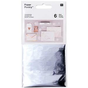 Rico Design Transferfolie 9x15cm 6 Blatt silber
