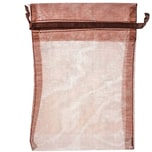 Beutel Organza 17,5x12,5cm 4 Stück braun