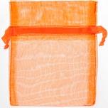 Beutel Organza 12,5x10cm 4 Stück orange
