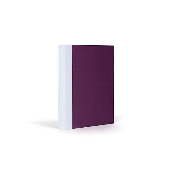 FANTASTICPAPER Notizbuch A6 blanco aubergine-white