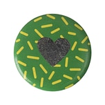 Jewellery Made by Me Button Herz Flakes 25mm Hot Foil