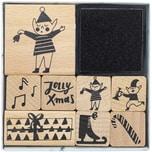Paper Poetry Stempelset Jolly Christmas Wichtel 9teilig