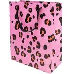 Paper Poetry Geschenktüte Acid Leo pink 26x32x12cm