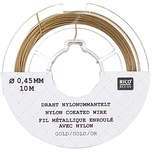 Rico Design Edelstahlseide 0,45mm 10m goldfarbig