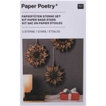 Paper Poetry Bastelset Papiertüten-Sterne Jolly Christmas klein braun