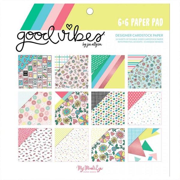 DECOHOBBY Scrapbooking Paper Pad Good Vibes 15,2x15,2cm