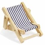 Deko-Liegestuhl blau-weiß 10cm