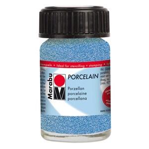 Marabu Porcelain 15ml glitter-blau
