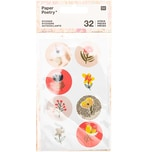 Paper Poetry Sticker Crafted Nature rosa 32 Stück