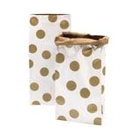 Paper Poetry Maxi-Blockbodenbeutel L Punkte 60x28x17cm 2 Stück weiß-braun-gold