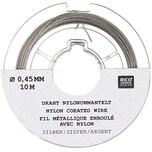Rico Design Edelstahlseide 0,45mm 10m silberfarbig