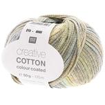Rico Design Creative Cotton Colour Coated 50g 125m grün Mix