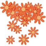 Rico Design Blüten aus Holz orange 12 Stück