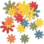 Rico Design Blüten aus Holz mehrfarbig 18 Stück