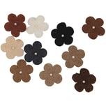 Rico Design Filzblüten mit Perlen 10 Stück beigemix