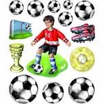 HobbyFun XXL Sticker Fußball