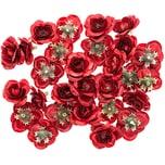 Rosenköpfe rot 28 Stück