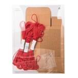Paper Poetry Geschenkboxen zum Besticken 4x8x10cm Kraftpapier 3 Stück mit Garn