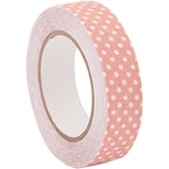 Rico Design Stofftape gepunktet rosa-weiß 5m selbstklebend