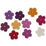 Rico Design Filzblüten mit Perlen 10 Stück rotmix