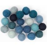 Rico Design Filz-Kugelmix 1,5cm 20 Stück blau