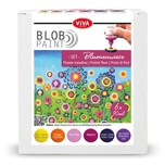 Viva Decor Blob Paint Set Blumenwiese 6x90ml