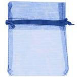 Beutel Organza 12,5x10cm 4 Stück blau