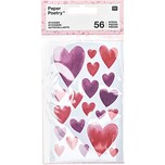 Paper Poetry Sticker It must be love Herzen aquarell 4 Blatt