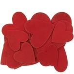 Holzdeko Herz 12 Stück rot