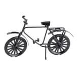 HobbyFun Deko Mini Fahrrad schwarz