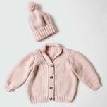 Strickset Jacke & Mütze Modell 9/10 aus Rico Baby Nr. 022 62-80