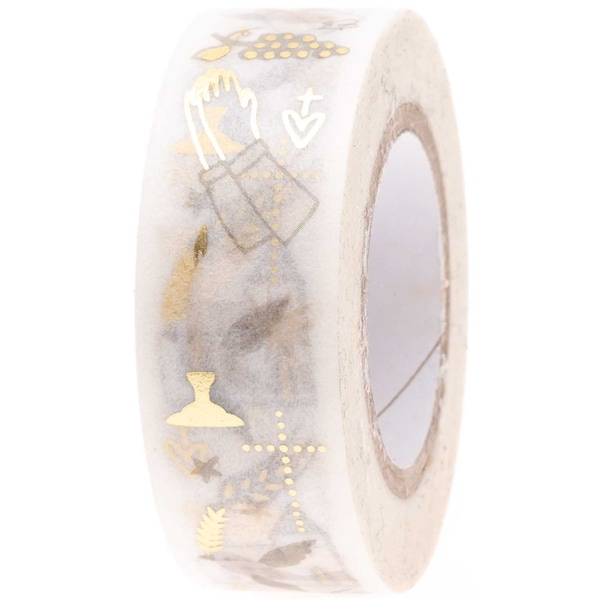Paper Poetry Tape Christliche Symbole 1,5cm 10m