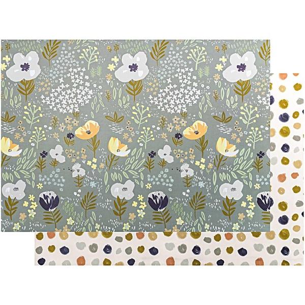 Paper Poetry Motivkarton Crafted Nature Blumen blau 50x70cm
